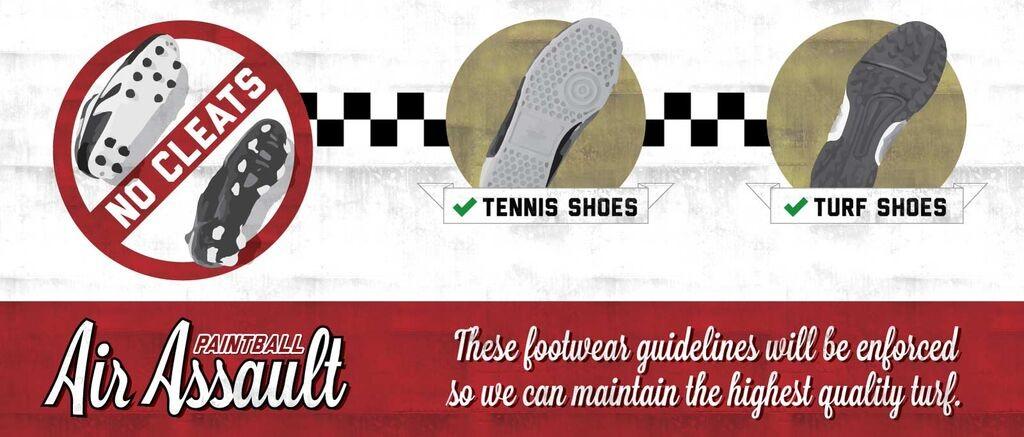 Proper Footwear for Indoor paintball