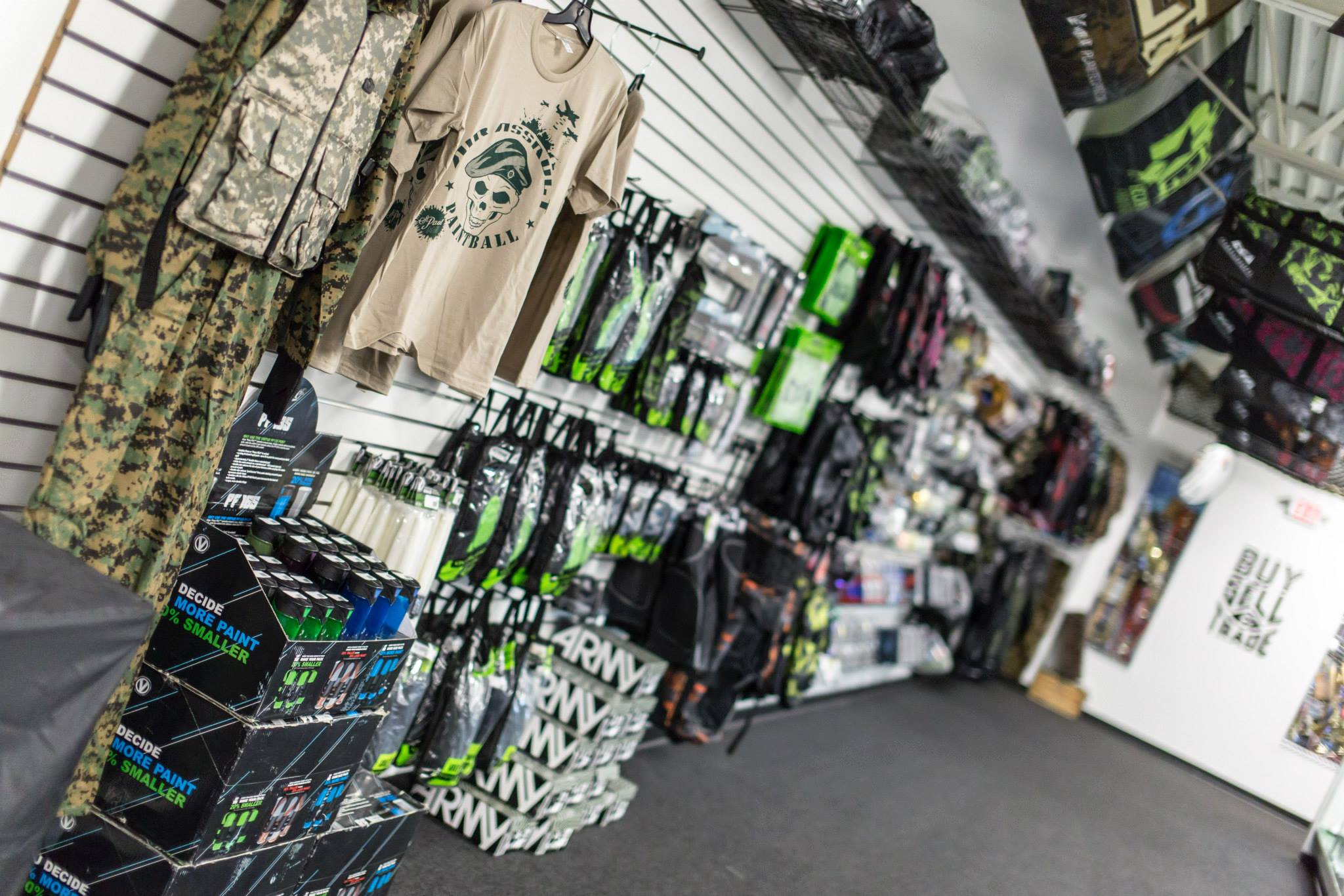 Paintball Retail Shop