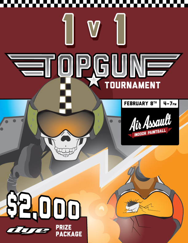 1 vs 1 Top Gun Paintball Tournament Air Assault Paintball
