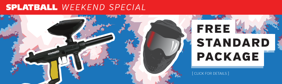 Splatball play paintball on July 4th Special