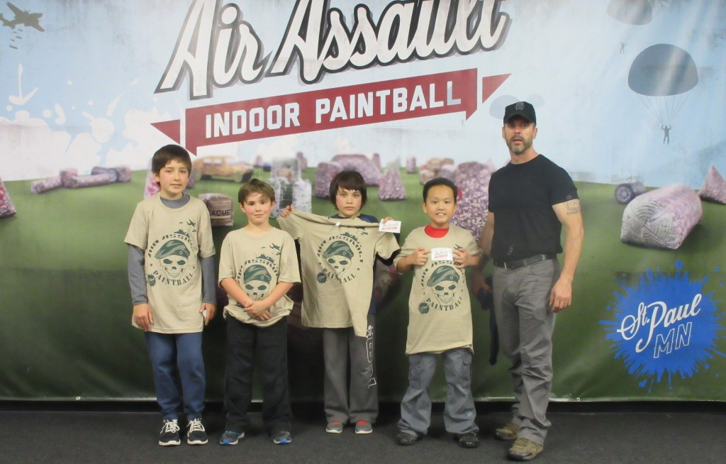 Indoor paintball birthday parties