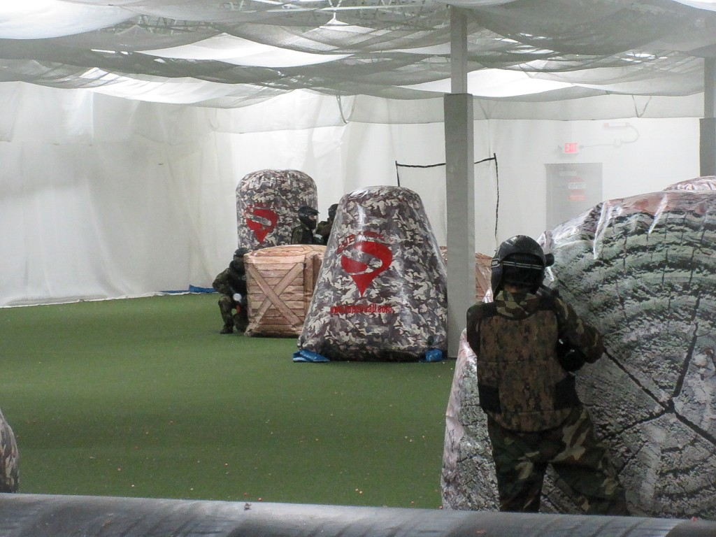 kids birthday paintball battle