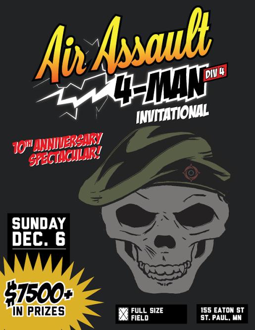 D4 4-man tournament 10th Anniversary flyer