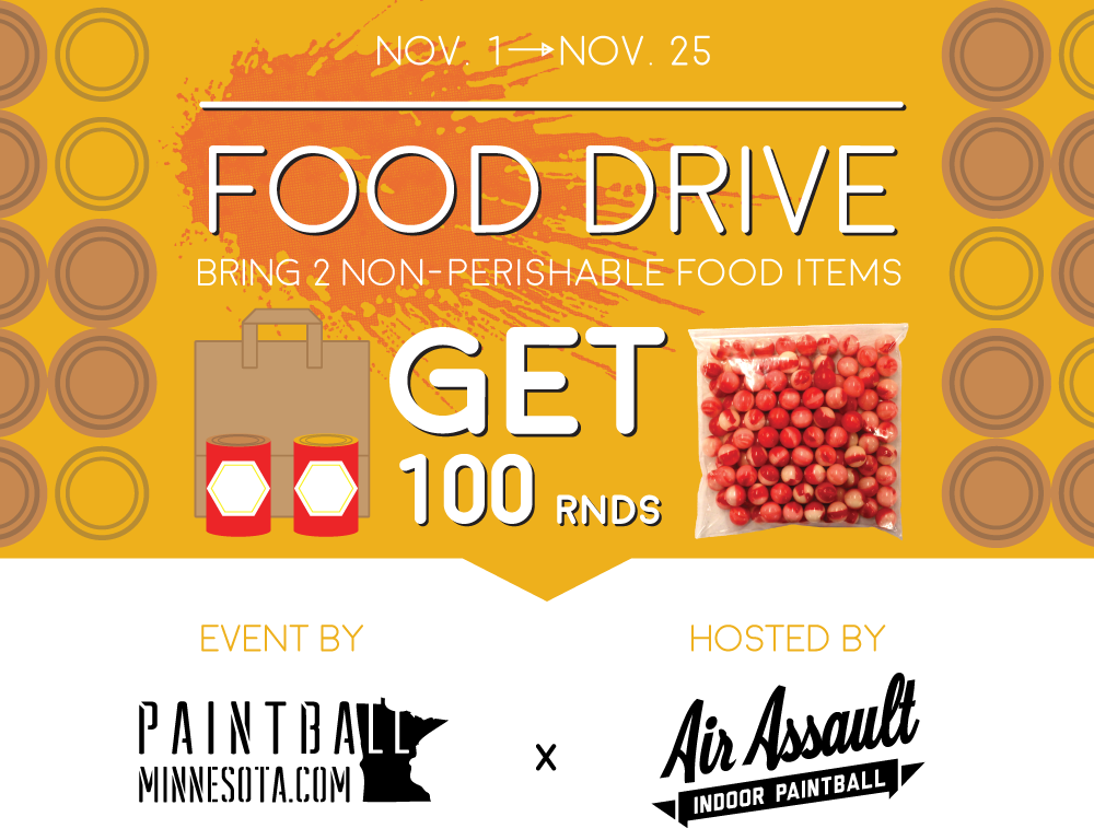 Paintball mn food Drive