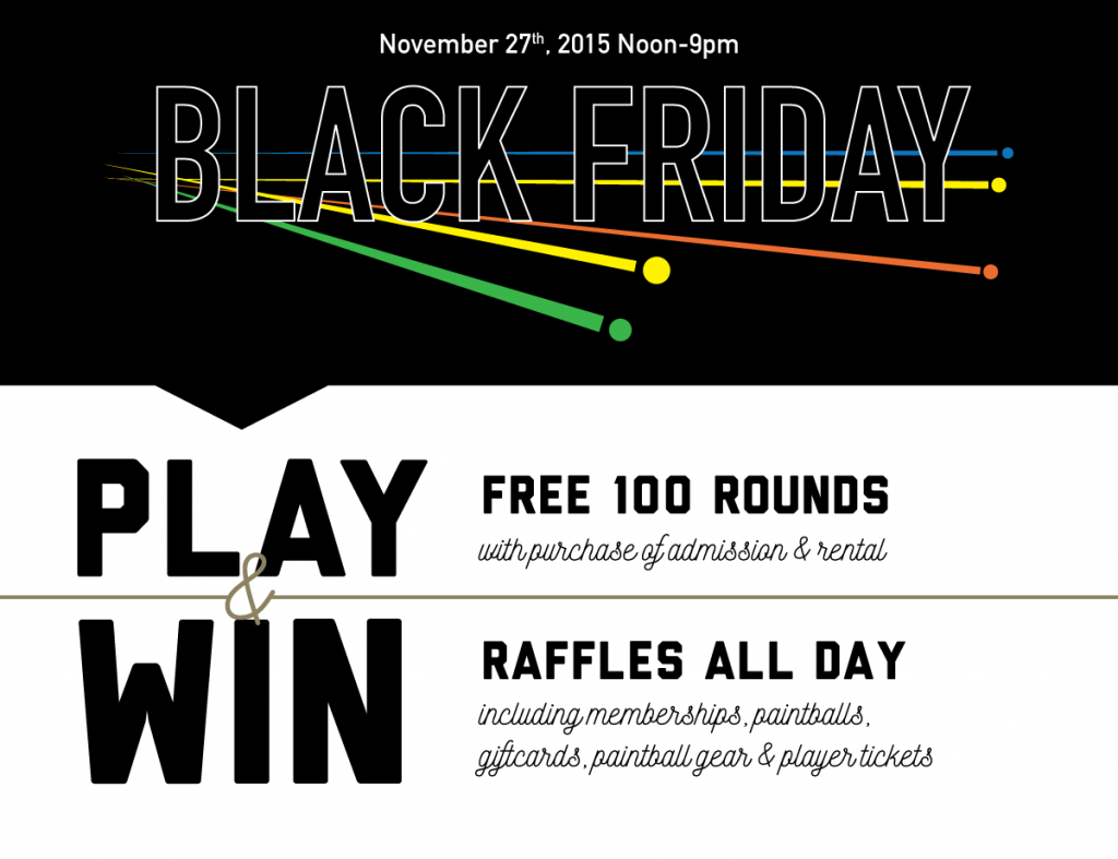 Black Friday Paintball Special