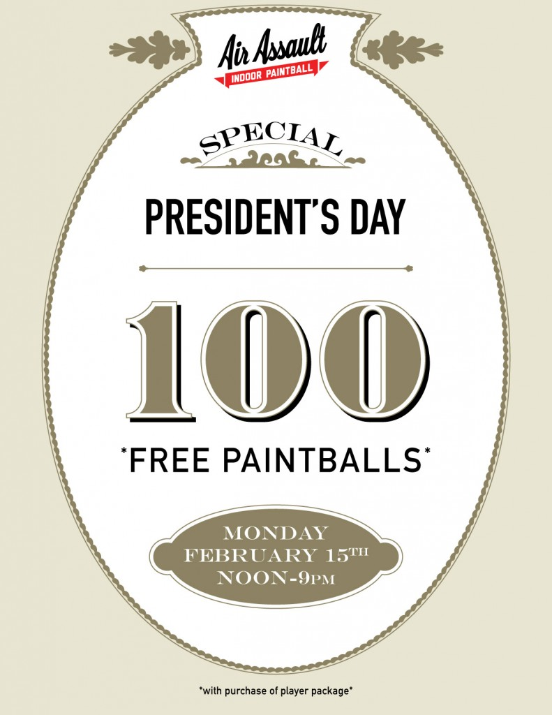 president day paintball special