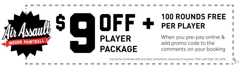Labor day paintball coupon