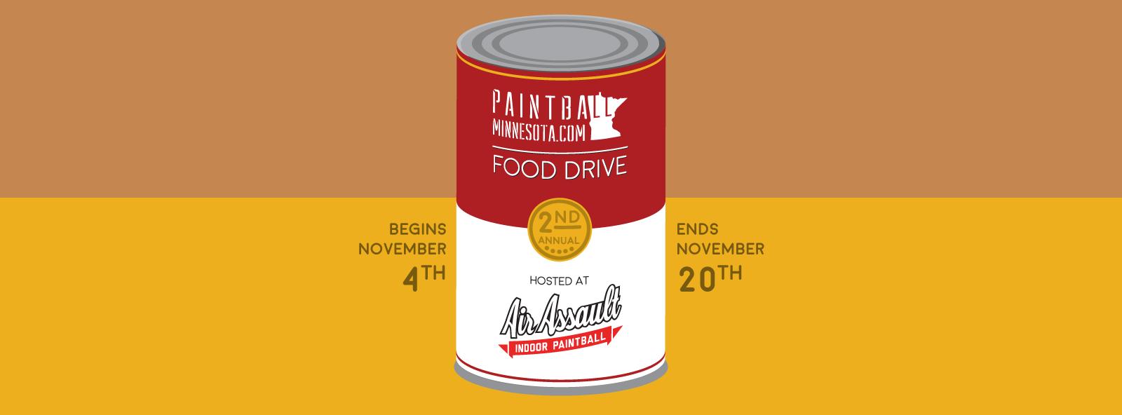 paintball minnesota food drive