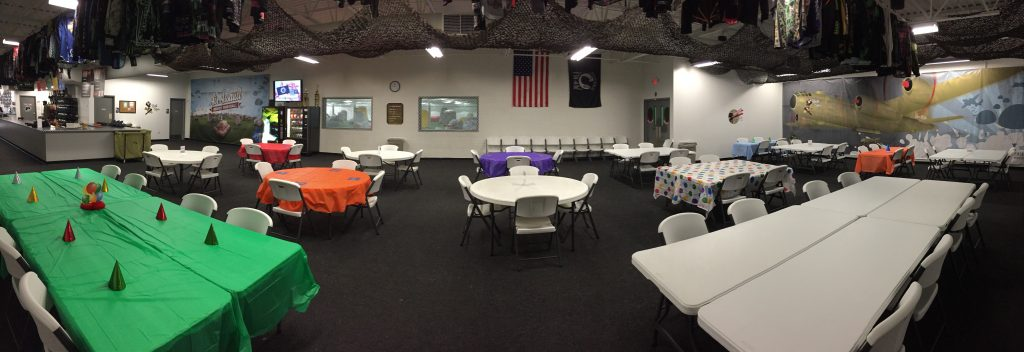 paintball party room