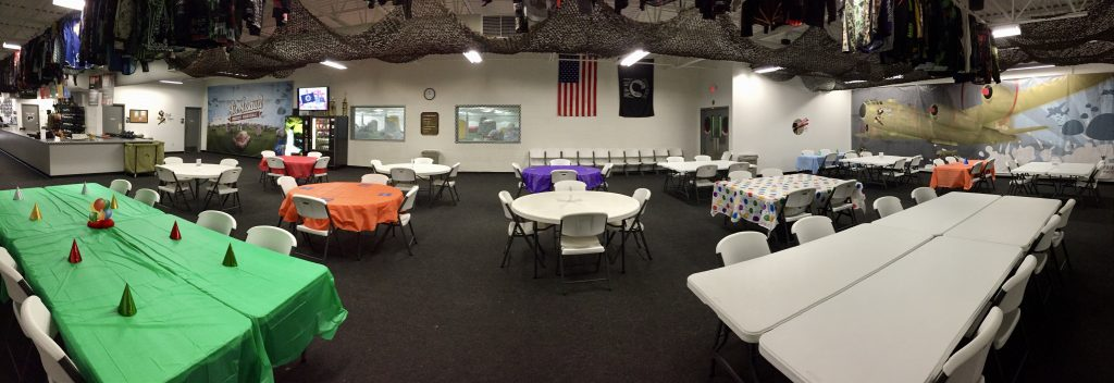 indoor paintball party area